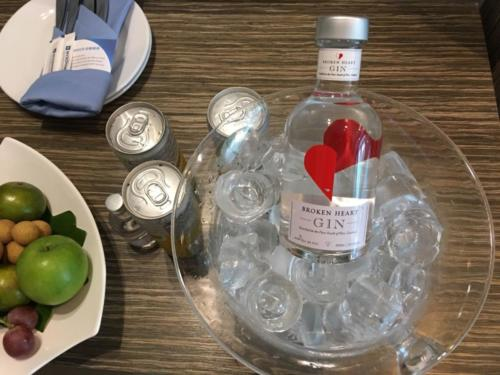 BH Gin bottle on ice at Wyndham Carissa Villas Phuket