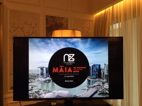 NZ Chamber_MAIA Event on TV screen