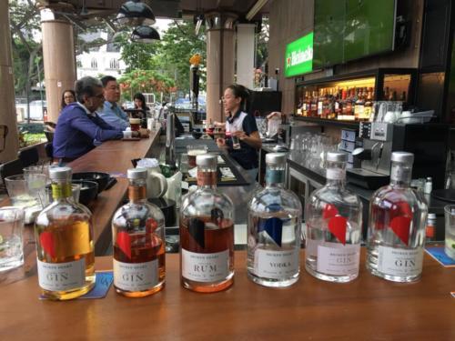 SRC Event_BH Tasting bottles on Bar